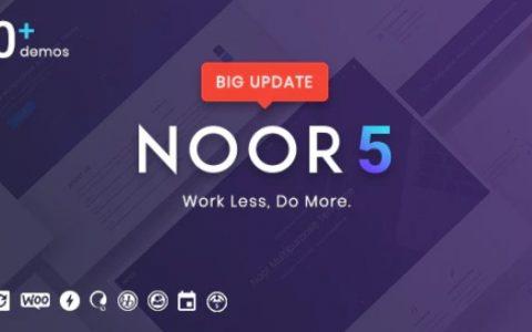 Noor v5.2.0 –最小的多功能WordPress主题,AMP和RTL