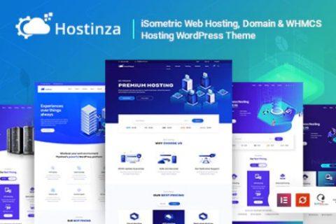 Hostinza v1.8.5 –等距域和Whmcs虚拟主机WordPress主题