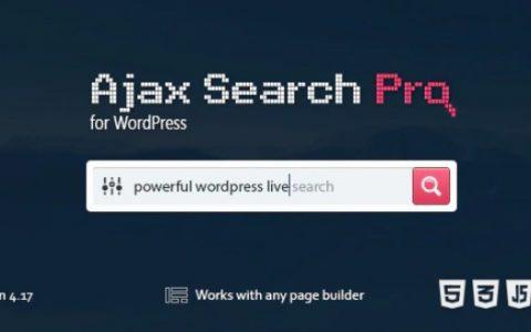 Ajax Search Pro v4.17.1 –实时WordPress搜索和过滤器插件