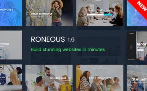 Roneous v1.7.3 –创意多用途WordPress主题