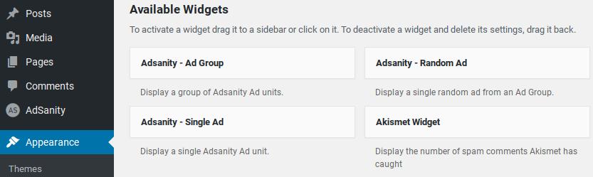 AdSanity评论-小部件
