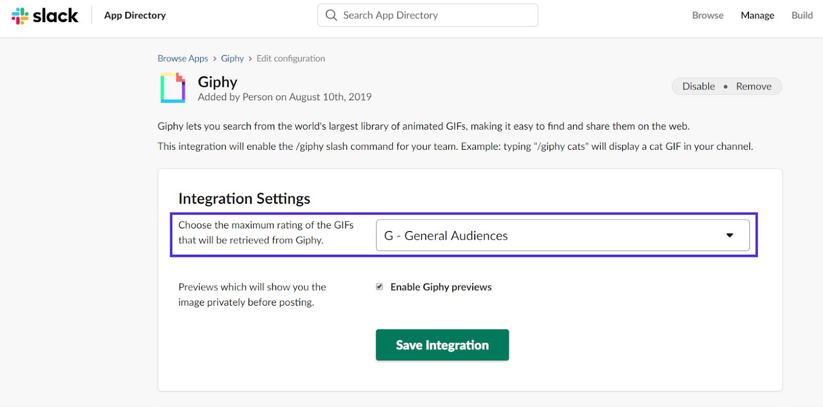 松弛giphy添加评分并保存