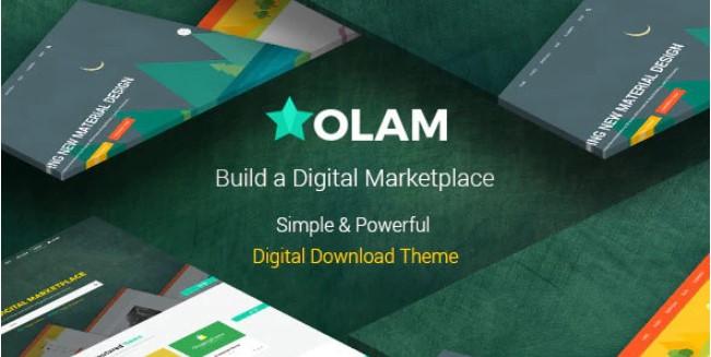 Olam-简易数字下载市场WordPress主题