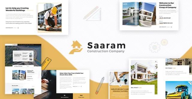 Saaram-建筑师WordPress