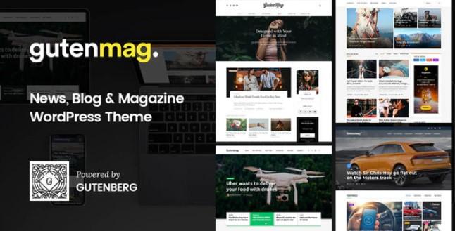 GutenMag-古腾堡WordPress主题