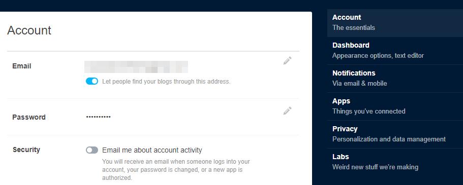 "Tumblr中的""应用程序""标签。"