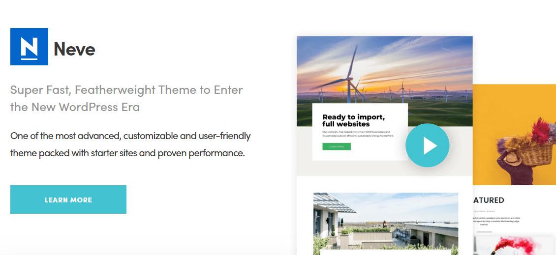 Neve是WordPress的完美自动博客网站主题