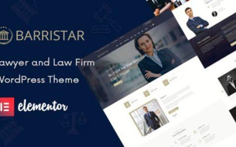 Barristar v2.0 –法律,律师和律师WordPress主题