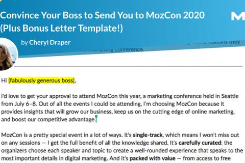 说服您的老板将您发送到MozCon 2020(加上奖励函!)
