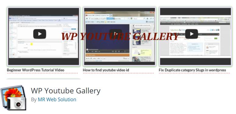 youtube video gallery插件