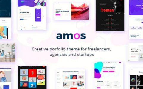 Amos v1.2.1 –響應式創意WordPress主題