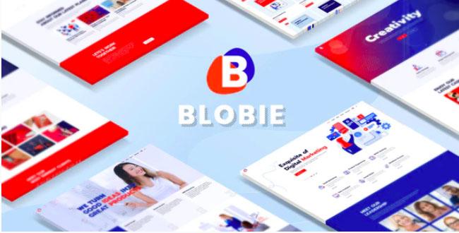 Blobie-Multiconcept创意WordPress主题
