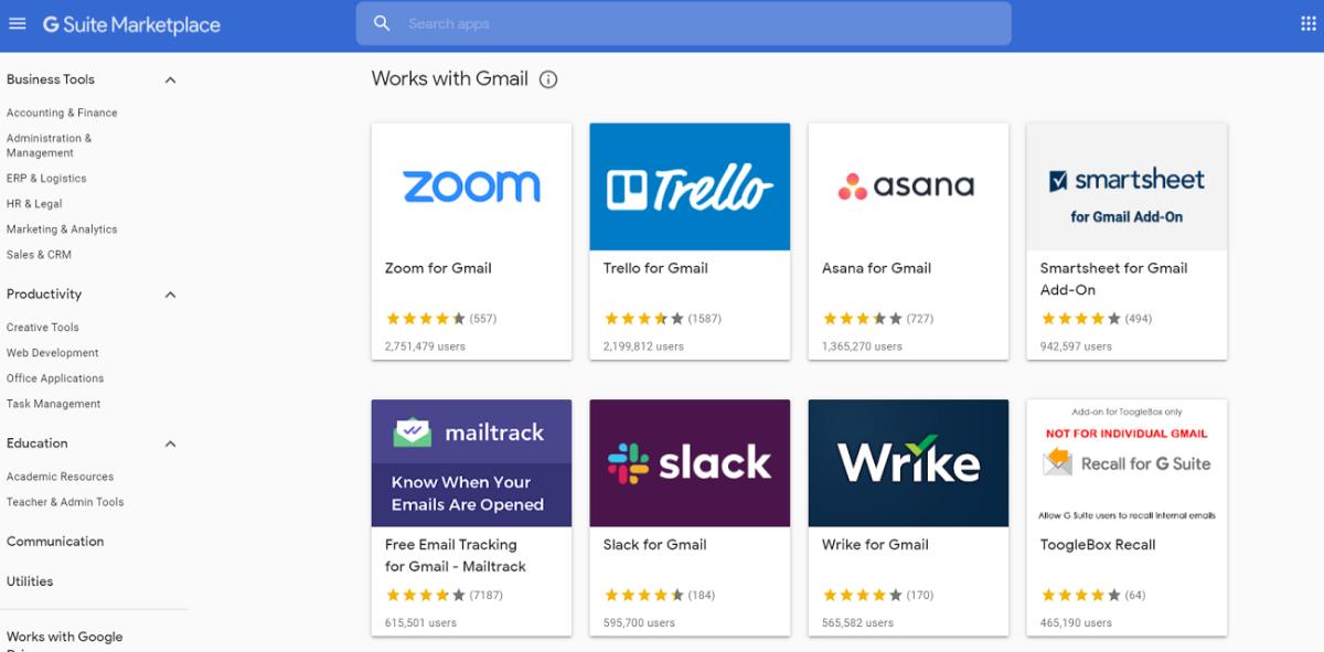 gmail插件g套件市场2