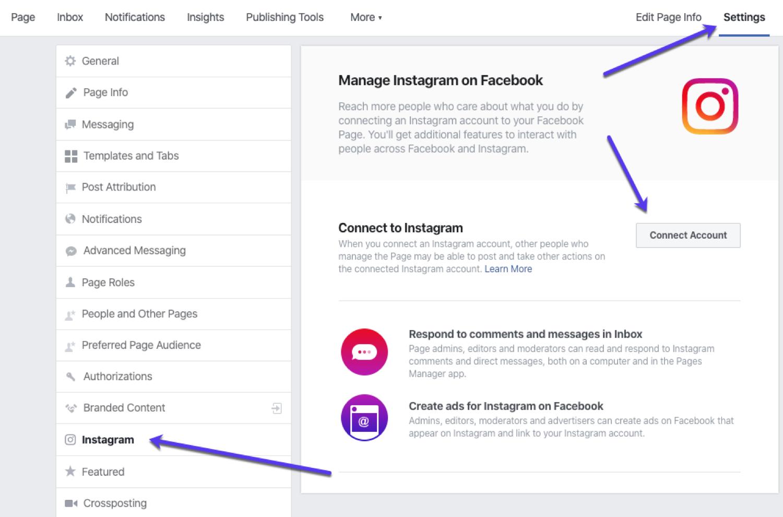 Instagram/Facebook ad dashboard
