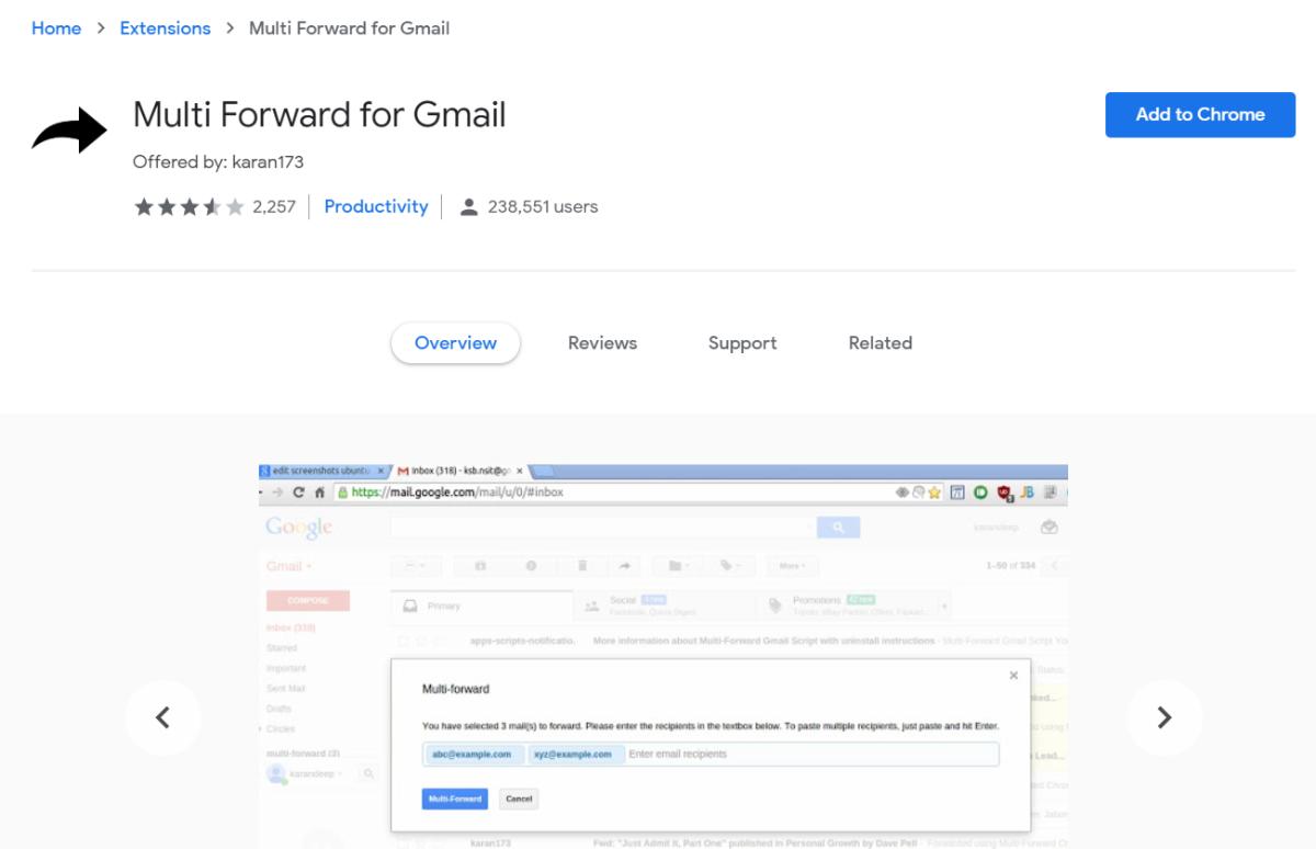 gmail 1的多路转发