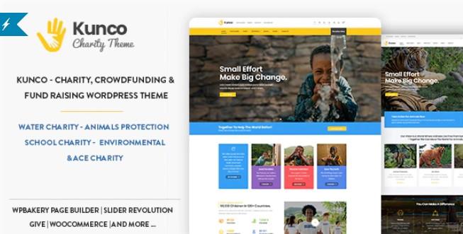 Kunco-慈善和筹款WordPress主题