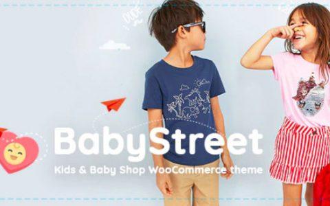 BabyStreet v1.2.9 –适用于儿童和商店的WooCommerce WordPress主题