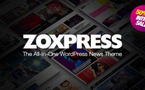 ZoxPress v1.01.1 –多合一WordPress新闻主题