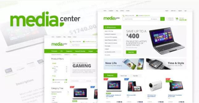 MediaCenter-电子商店WooCommerce主题