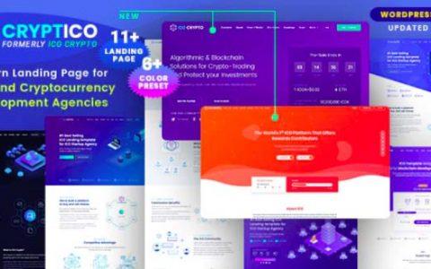 Cryptico v1.4.6 – ICO加密登陆和加密货币WordPress主题