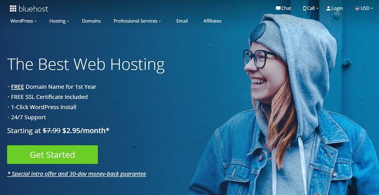 Bluehost,免费转移域名