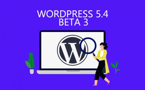 WordPress 5.4 Beta 3更新
