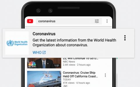 YouTube允许创作者通过有关冠状病毒的内容获利