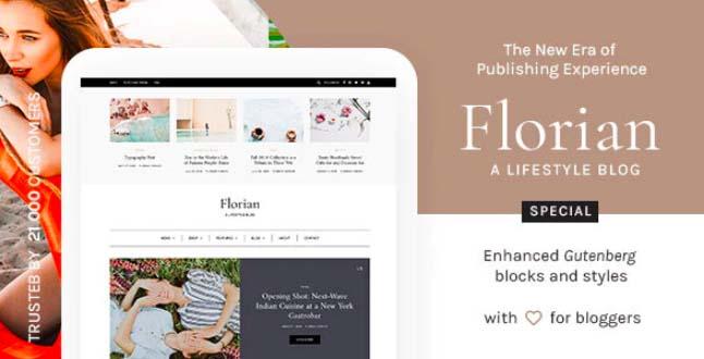 Florian-响应式个人WordPress博客主题