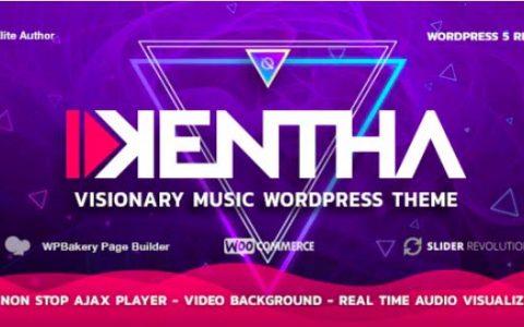 Kentha v2.1.6 –使用Ajax的非停止音樂WordPress主題