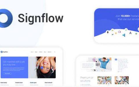 Signflow v1.4.7 –技术和启动WordPress主题