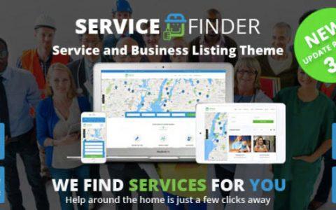 Service Finder v3.4 –提供商和业务列表WordPress主题