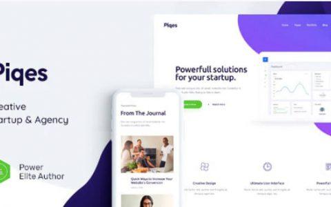 Piqes v1.0.1 – Creative Startup&Agency WordPress主題