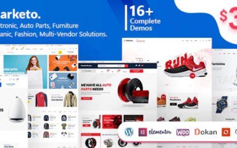 Marketo v2.0.1 –电子商务和多供应商WordPress主题