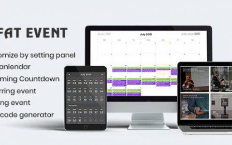 FAT Event v3.11 – WordPress事件和日历预订插件