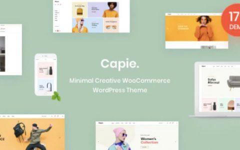 Capie v1.0.9 –最小的创意WooCommerce WordPress主题