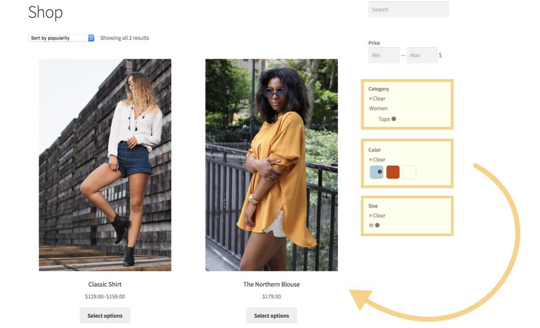WooCommerce Product Search plugin screenshot