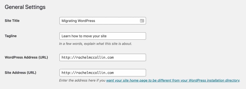 WordPress URL设置