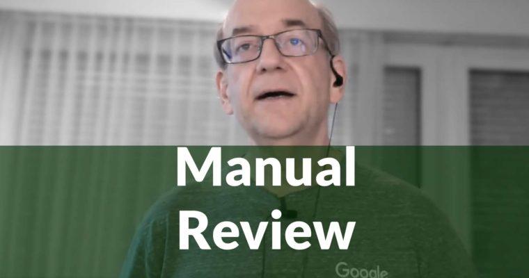 Google回答如何处理人工评论