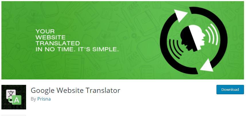 Google网站翻译语言插件