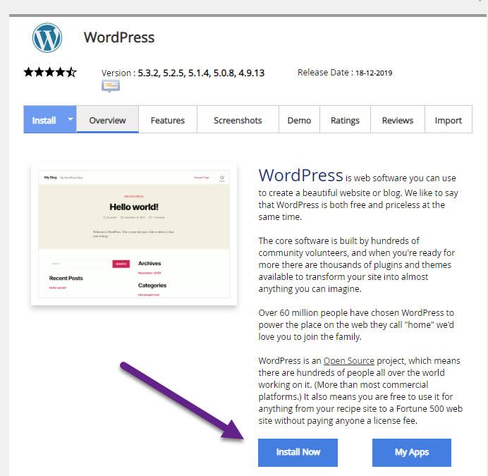 WordPress的安装