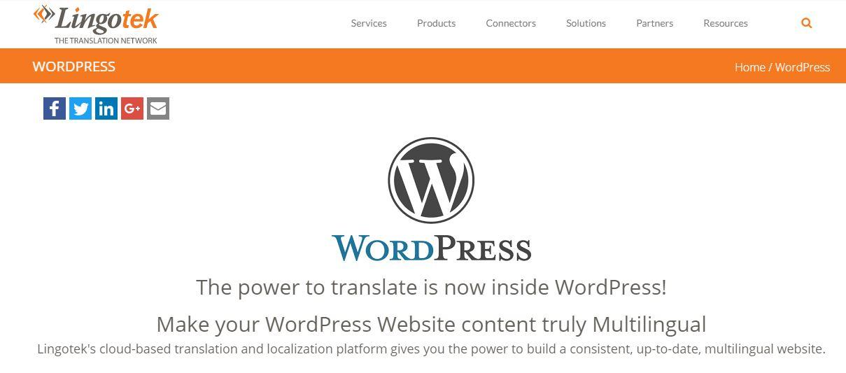 Lingotek Translation WordPress多语言插件