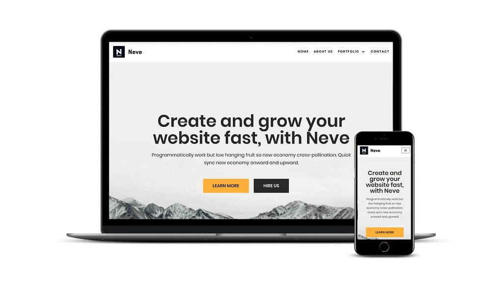 Neve是最快的商业WordPress主题之一