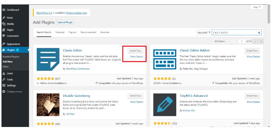 Activate-The-Classic-Editor-Plugins