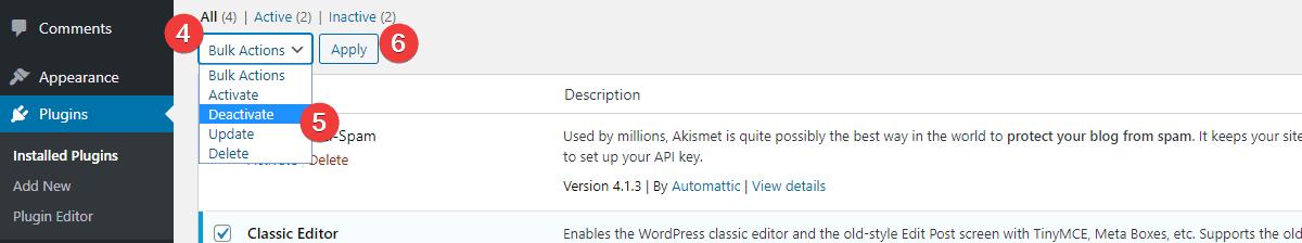 Deactivating-all-plugins-troubleshooting-WordPress-plugins
