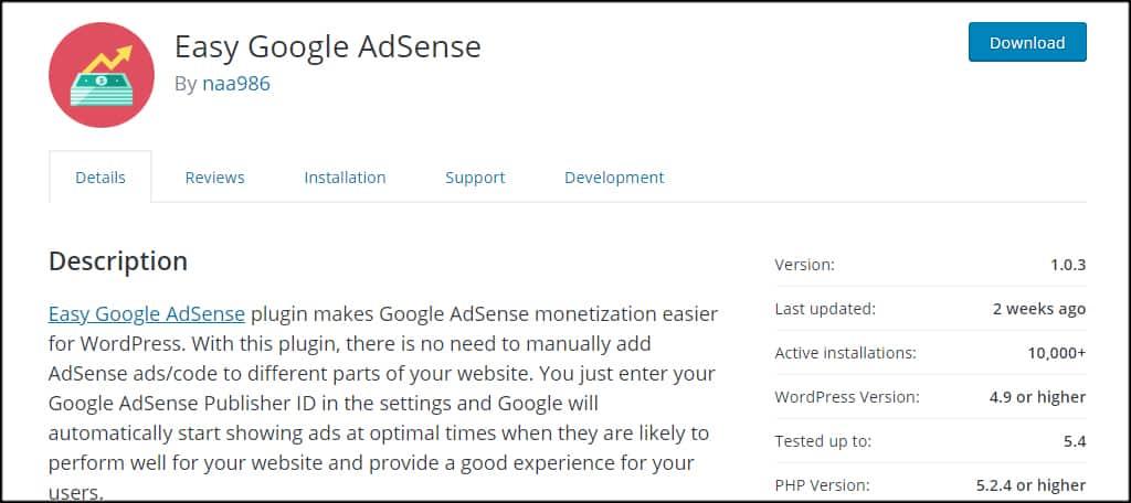EasyGoogleAdSense