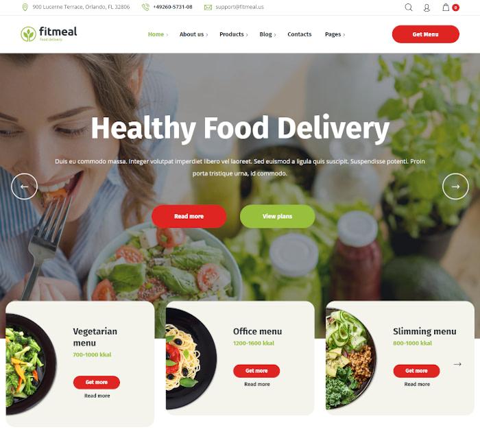 最佳送餐WordPress主题:Fitmeal