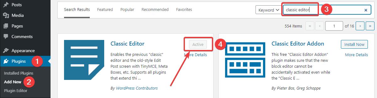 How-to-install-the-Classic-WordPress-Editor-plugin