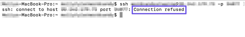 connection refused error