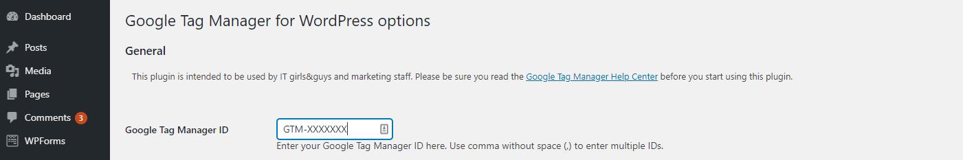 "输入您的跟踪代码管理器ID。"" class ="" wp-image-30662"" width ="" 1401"" height ="" 233"
