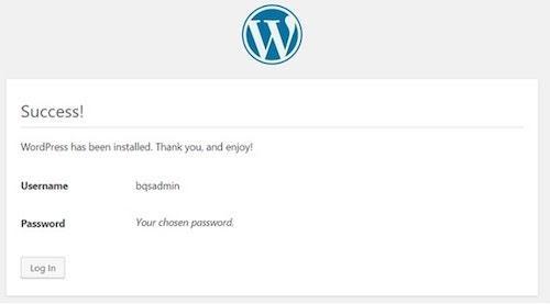 wordpress-cpanel-installation-success